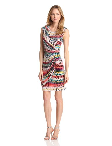Tiana B Womens Sleeveless Abstract Printed Dress