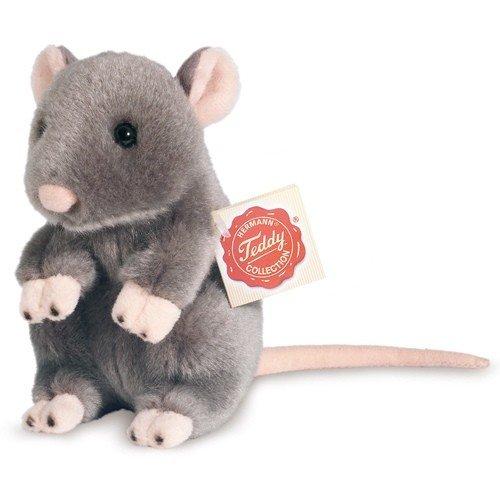 Plush Soft Toy Grey Rat by Teddy Hermann.