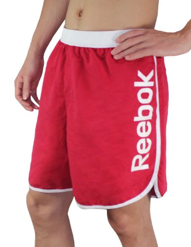 Reebok Mens High Performance Athletic Sports Shorts With Brief Lining 2Xl Red front-1004198