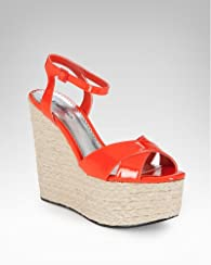 Karissa Patent Leather Jute Wedge