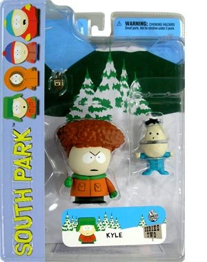 Picture of Mezco South Park Series 2 Kyle with Ike (w/Afro) Action Figure (B000TDZ96I) (Mezco Action Figures)