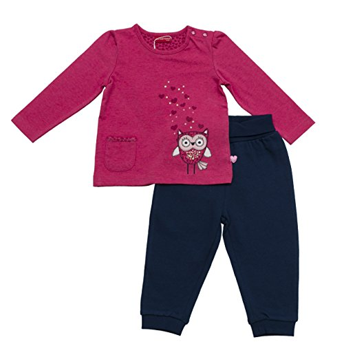 SALT AND PEPPER B Longsleeve Smart Owl, Set Bimbo, Mehrfarbig (Rasberry-Dutch Blue 875-465), 6 mesi