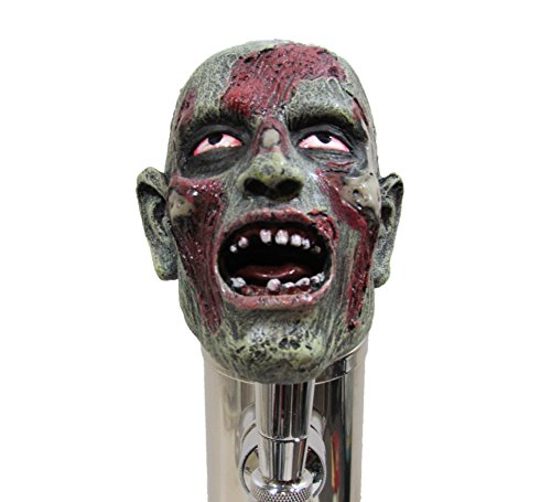 Realistic Zombie Head Beer Tap Handle Sports Bar Kegerator Resin Breweriana (Cool Beer Tap compare prices)