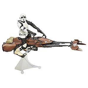 """Amazon.com: Star Wars Black Series 6"""" Speeder Bike: Toys & Games"""
