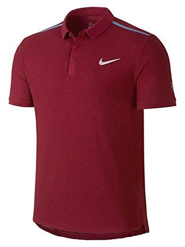 Nike Roger Federer Premier polo Boys abbigliamento donna, Uomo, Roger Federer Premier Polo Boys, rosso scuro, S