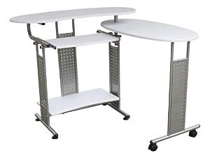 ausziehbarer pc tisch in wei wei er pc tisch computertisch ausziehbarer pc tisch tisch f r pc. Black Bedroom Furniture Sets. Home Design Ideas