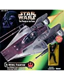 Star Wars: Power of the Force A-Wing Fighter with Pilot Vehicle