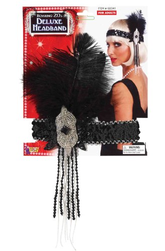 Forum-Novelties-Roaring-20s-Deluxe-Black-and-Silver-Flapper-Headband