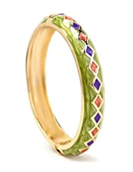 Akshim Green Alloy Bangle For Women - B00NPY88A2