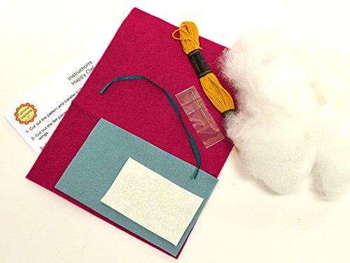 Corinne Lapierre feutre Hibou Craft Mini Kit de couture, rose Cerise
