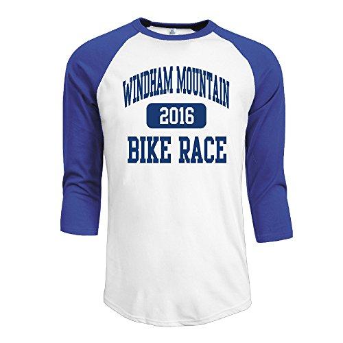 Men's 2016 Windham Mountain Bike Race Raglan Baseball T-Shirt (Hair Removal Gel For Men compare prices)