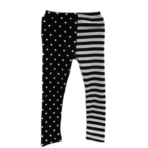 Zehui Girls Dance Leggings Tights Polka Dot Stripe Render Pants 1-9Y