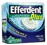Efferdent Plus, Denture Cleanser Tablets,Freshburst 36