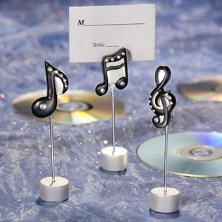 Musical Note Wedding Place Card Holders - Unique Wedding Favors, 60