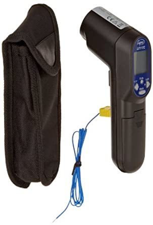 Supco LIT11TC Laser Infrared Thermometer with Probe, -60 to 700 Degrees C, -76 to 932 Degrees F, Accuracy of + or - 1 Degree C