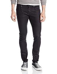 G-Star Raw Men\'s Revend Super Slim Fit Pant In Black Print Stretch Denim, Dye Dark Aged, 32x32