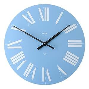 firenze wall clock color blue home