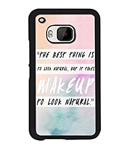 Crazymonk Premium Digital Printed Back Cover For Htc M9