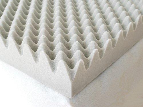 Milliard 2-Inch Egg Crate Ventilated Memory Foam Mattress Topper, Full