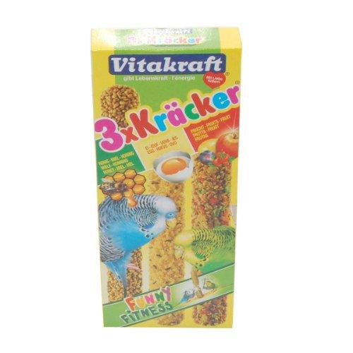 Vitakraft 3 x Kräcker Mit Honig, Ei und Frucht