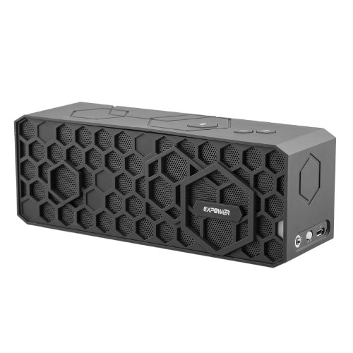 Expower(R) Portable High Powered, Extremely Durable Wireless Bluetooth 4.0 Speaker (With Mic And 12 Hour Battery)