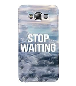 PrintVisa Life Quotes Design 3D Hard Polycarbonate Designer Back Case Cover for Samsung Galaxy E7