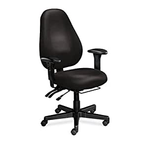 Fabric Ergonomic Office Chair Charcoal Fabric Black Frame Home