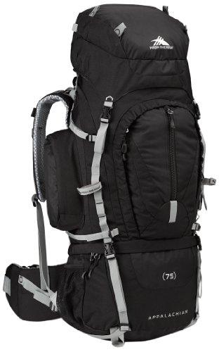 High Sierra Appalachian 75 Internal Frame Pack, Black/Black/Silver front-656613