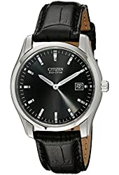 Citizen Men's AU1040-08E Eco-Drive Stainless Steel Watch With Black Synthetic Band
