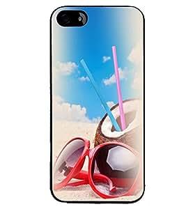 Printvisa Beach Enjoyment Stuff Back Case Cover for Apple iPhone 4S