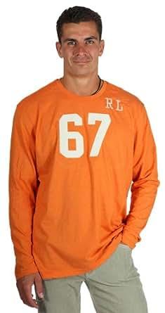 Ralph Lauren RL67 Hommes T-shirt à manches longues d'orange 10042100, taille:XXL