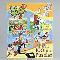 41L53zlHR2L Reviews Loony Tunes 4 in 1 100 Piece Puzzles