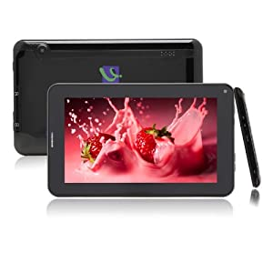 "IRULU® 7"" Android Tablet PC Smartphone, Android 4.4 OS , Quad Core, Allwinner A23 CPU, Dual Cameras, Bluetooth, WIFI, SIM Card Port, 5 Point Capacitive Touch Screen, 8GB Storage, Black"