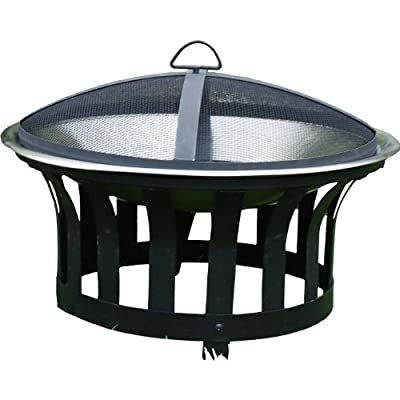 Patio Garden Fire Pit Barbecue Fire Pit With Mesh Safety Lid from Bonnington Plastics