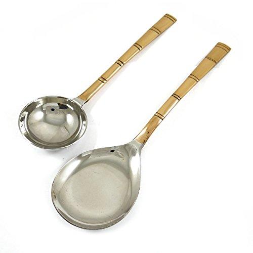 Traditionnelle indienne spécial en acier inoxydable plaqué cuivre Cuillère Set Vaisselle Vaisselle Accessoires de cuisine