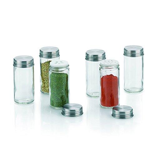 Kela Fidelis 10859 Lot de 6 bocaux à épices en verre