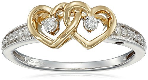 Yellow-Plating-Over-Sterling-Silver-with-Diamond-Promise-Ring-110cttw-H-I-Color-I2-Clarity