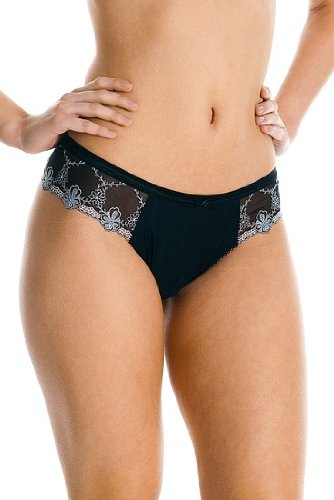 "Mey Dessous ""BLOOM"" Damen Strings Schwarz 38"