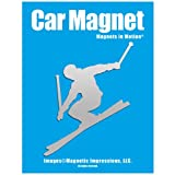 Alpine Skier Car Magnet Chrome