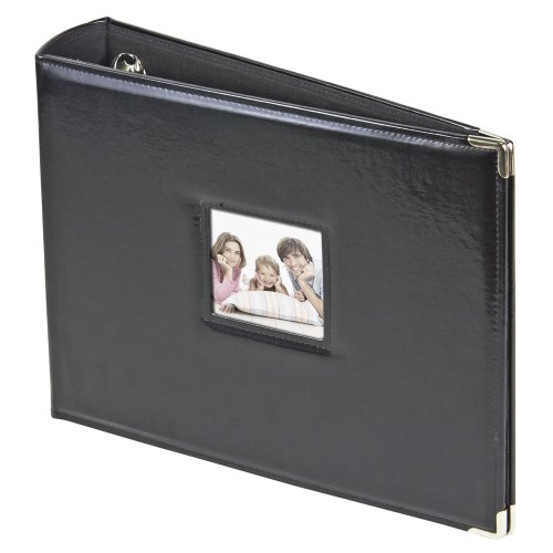 3-Ring Photo Binder Album With Sewn Leatherette Frame Acid