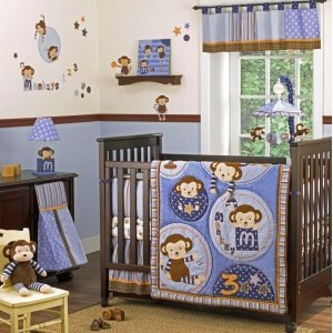 Cocalo Baby 8 Piece Crib Set - Monkey Mania - 1