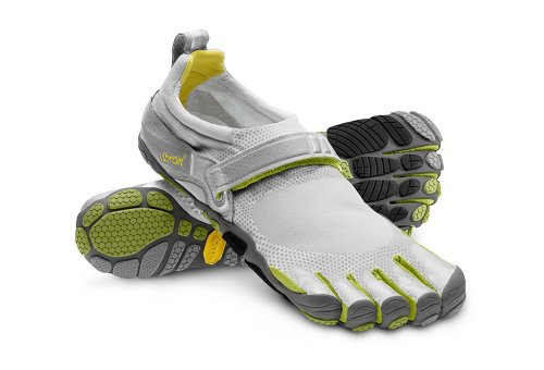 Vibram Fivefingers Bikila (45 Mens, Light Grey/Palm/Dark Grey) - M345