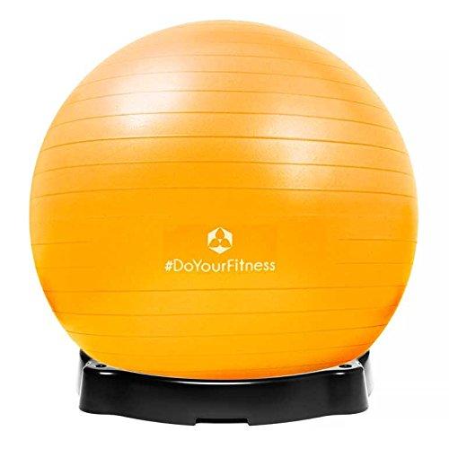 Gymnastikball-Orion-inklusive-Ballschale-Robuster-Sitzball-und-Fitnessball-85-cm-gelb-inklusive-Sitzschale