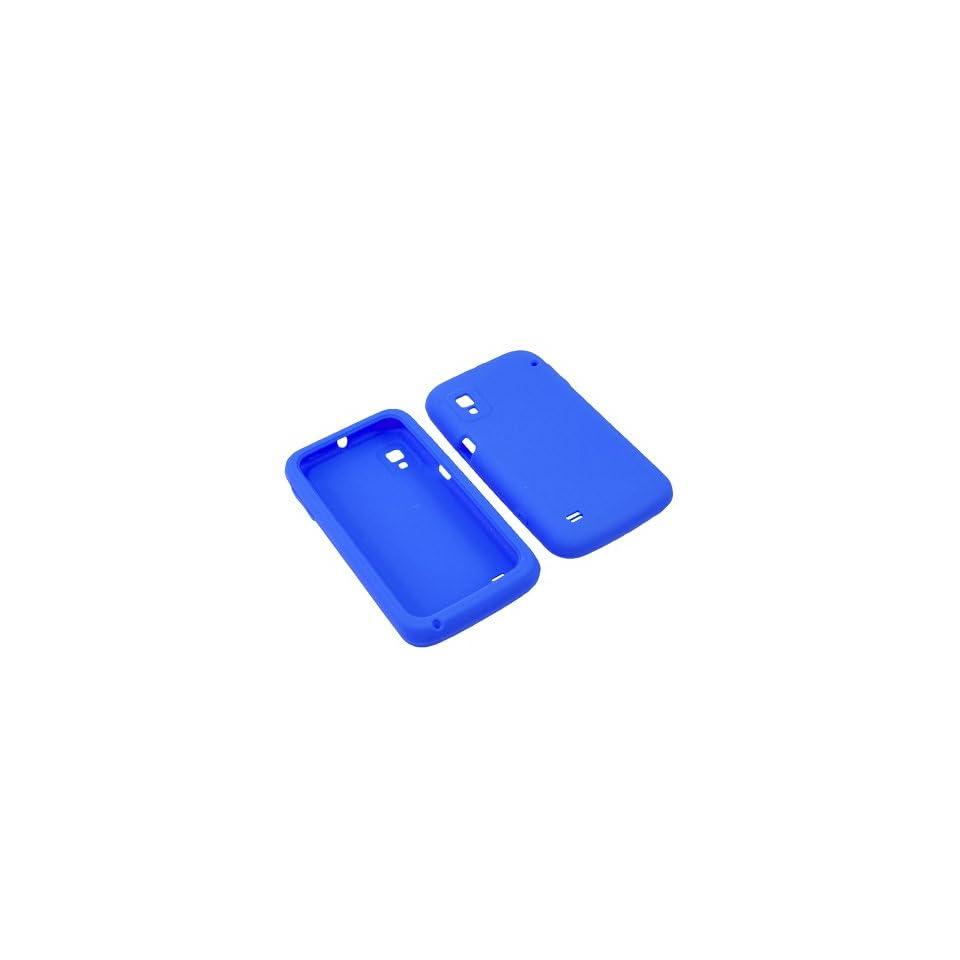 BW Soft Sleeve Gel Cover Skin Case for Boost Mobile ZTE Warp N860  Blue