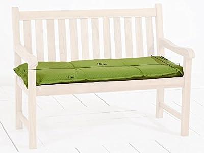 Madison 7BAN6-F117 Gartenbank, 2-Sitzer Rib lime, 120 x 48 cm, Acryl, grün von Madison bei Gartenmöbel von Du und Dein Garten