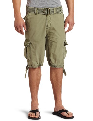 Buffalo By David Bitton Mens Hifent Cargo Shorts, Military, 34