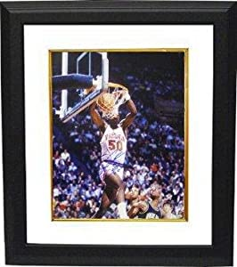 Autographed Ralph Sampson Photograph - Virginia Cavaliers 16x20 Custom Framed CPY 81...