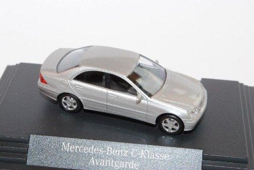 Mercedes-Benz C-Klasse W203 Limousine Silber 2000-2007 H0 1/87 Herpa Modell Auto