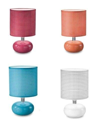 Lume Da Tavolo In Ceramica Vari Colori Paralume E14 Serie Pinko