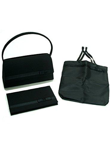 ブラックフォーマル バッグ3点セット バッグ ふくさ 簡易折りたたみバッグ